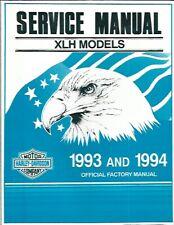 """New ListingHarley-Davidson 1993-1994 Xlh (""""Sportster"""") Models Service Manual P/N 99484-94"""