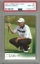 2001 Upper Deck Golf Sergio Garcia PSA 8