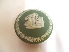 Vintage Wedgwood Small Green Container With Lid Sage Green With Cream