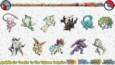 All Mythical Pokémon from 20th Anniversary (any nature) for XY/ORAS/SM/USUM 3DS