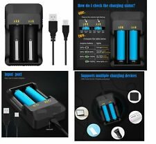 Smart USB Battery Charger 18650 26650 20700 21700 | 100% Genuine