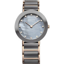 Bering Women's Watch 11429-769 Analog Stainless Steel, Ceramic Grey, Rosé