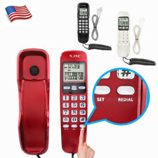 Wired Wall Phone Corded Landline Dual Caller Id Desktops Telephones For Home Us