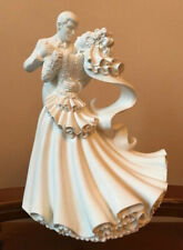 FIGURINE WILTON WEDDING CAKE TOPPER PORCELAIN BIANCA WEDDING COUPLE DANCING