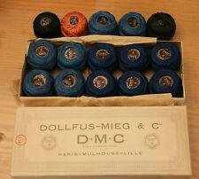 boite coton perlé d.m.c n8 824  paris (15 pelotes ou bobines)