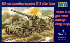 """Unimodel 1/72 155mm M12 Gun Motor Carriage """"King Kong"""" # 211"""