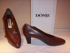 Scarpe classiche decoltè decolletè Dome donna tacchi pelle cuoio marroni new 38