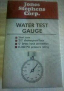 Water Pressure Test Gauge 0-300 psi
