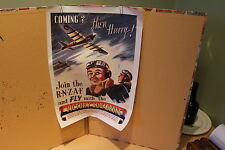 """ROYAL NEW ZEALAND AIR FORCE POSTER - WW2 - """"VICTORY SQUADRONS"""" - R.N.Z.A.F."""