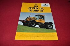 JCB Fastrac 125 135 155 Tractor Dealer's Brochure LCOH
