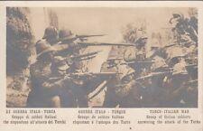 A033) WW ITALO TURCA, GRUPPO DI SOLDATI ITALIANI SPARA CONTRO I TURCHI.