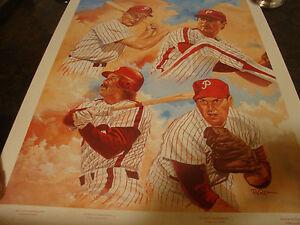 "Philadelphia Phillies---Dick Perez Autographed Print---18"" x 24""---Serial #4529"