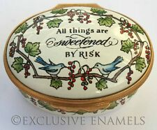 Halcyon Days Enamels All Things Are Sweetened By Risk Enamel Box