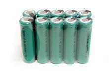 10 Tenergy AA 2000mAh NiMH Batteries Flat Top w/ Tabs
