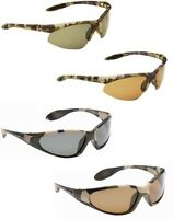 Mens Polarised Sport Sunglasses Camouflage Wrap Carp Fishing Glasses 100% UV