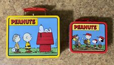 Peanuts Tin Lunch Boxes-Snoopy, Charlie Brown and the Gang-Set of 2