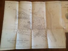 RARE 1869 Register Confederate Dead, large MAP, Hollywood Cemetery, Richmond CSA