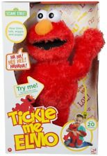 SESAME STREET - TICKLE ME ELMO CUDDLY TOY RED KIDS CHILDRENS BOYS AND GIRLS GIFT