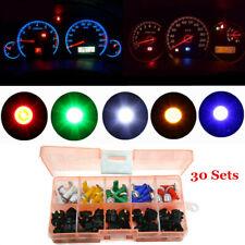 30x T5 Car Twist Socket Instrument Panel Cluster Mix Colour Dash Led Light Bulb