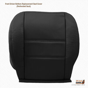 2001 to 2004 Driver Bottom Perforated Leather Cover For Nissan Pathfinder Black