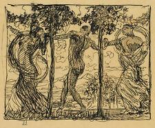 O.GREINER(*1869), Der Tanz, um 1895/6, Federzeichnung auf Transparentpapier