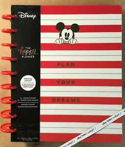 """NEW the Happy Planner Disney MICKEY """"PLAN YOUR DREAMS"""" Classic UNDATED Planner"""