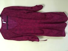 Lee Cooper size 12 wine coloured paisley tunic with pockets and long sleeves