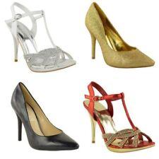 Mujer Tacón Medio Boda para Fiesta y Pedrería Zapatos Clásicos Varios Números