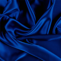 Blue Stretch Silk Charmeuse, Fabric By The Yard