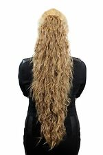 Very long, voluminous Ponytail with kinky Curls, Dark blonde N838-19