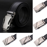 Fashion Men's Genuine Leather Automatic Buckle Black Waistband Waist Strap Belts