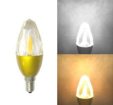 E12/E14 K9 Crystal Glass LED Bulb COB 2509+SMD 85~265V 7W Crystal Light #CL37