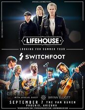 "Lifehouse / Switchfoot ""Looking For Summer Tour"" 2017 Phoenix Concert Poster"