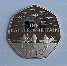2015  Proof Fifty Pence coin 75th Anniversary Of The Battle Of Britain 50p