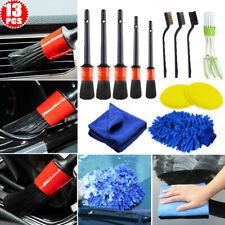 Set of 13 Premium Car Detailing Cleaning Brush Brushes Interior W/ Exterior Set
