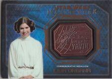 2016 Star Wars Masterworks Medallion Bronze Leia Organa Battle of Yavin