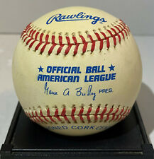 "RARE VINTAGE OFFICIAL AMERICAN LEAGUE GENE BUDIG ""BLEM"" RAWLINGS BASEBALL"
