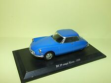 CITROEN DS 19 COUPE RICOU 1959 Bleu UNIVERSAL HOBBIES sur socle 1:43