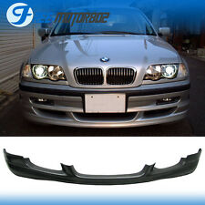 Fit 99-01 BMW E46 4DR Sedan PU Front Bumper Lip Spoiler Black Euro Style