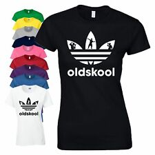 Old Skool Juko T-Shirt DJ Dance Party Festival Acid House Rave Xmas Ladies Top
