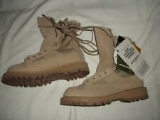 "MEN'S ""ROCKY"" TAN TEMPERATE WEATHER LEATHER US ARMY COMBAT BOOTS SZ 5 NARROW"