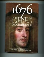 1676 : The End of American Independence., Stephen Webb, 1st US, HBdj VG