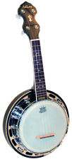 F622590f Ashbury Ab-48 Banjo Ukulélé Naturel