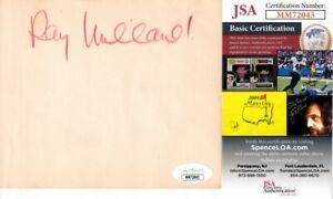 Ray Milland autographed signed autograph auto cut 5x5 album or book page JSA COA