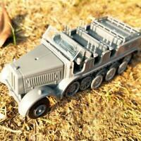 1:72 4D Wheeled Armored Vehicle Rubber-free Assembling Model Military Toy Car