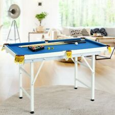 "47"" Folding Billiard Table Pool Game Table with Cues and Brush Chalk"