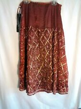 Womens bentley a Roma Crinkled Skirt Sequined And Beaded Size 4
