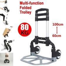 More details for 80kg heavy duty lightweight folding hand sack trolley truck barrow cart wheel uk