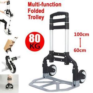 80KG Heavy Duty Lightweight Folding Hand Sack Trolley Truck Barrow Cart Wheel UK