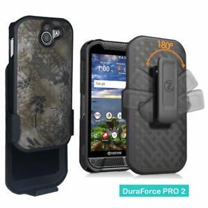 for Kyocera VERIZON AT&T DuraForce Pro 2 E6920 E6910 Belt Clip Holster Case Camo